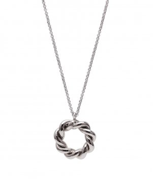 Twist Short Necklace Steel