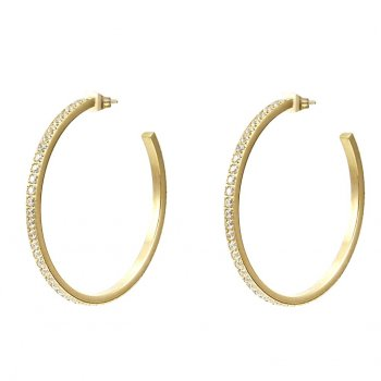 Crown Hoop Earring Gold