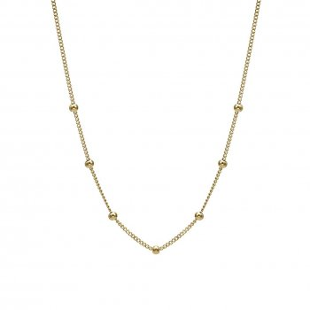 Globe Choker Necklace Gold
