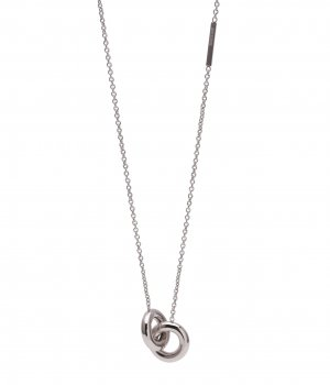 Lola Double Short Necklace Steel