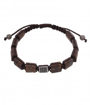 Bull Stone Brown Adjustable Bracelet