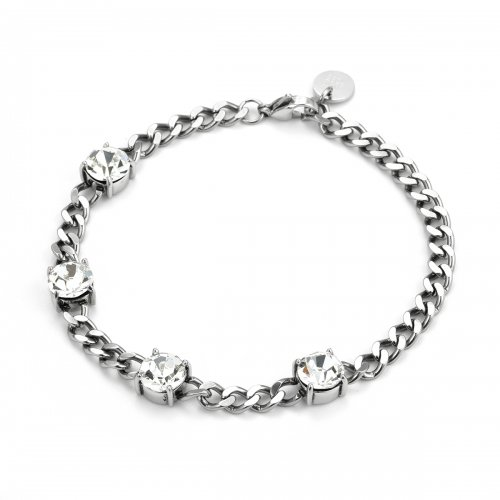 Sence Crystal Bracelet Clear/Steel