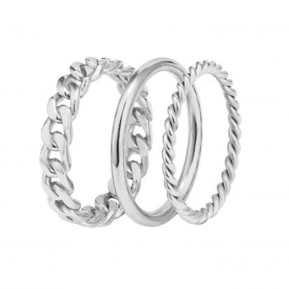 Chain Trio Ring Steel