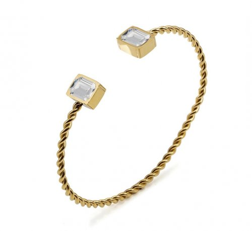 Grace Bangle Clear/Gold