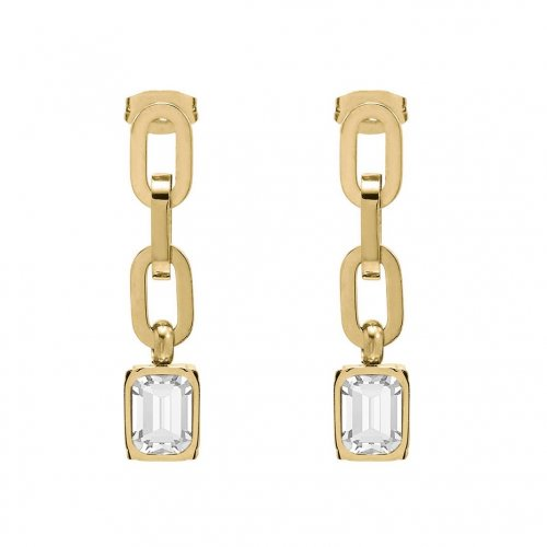 Grace Chain Earring Clear/Gold