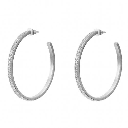 Crown Hoop Earring Steel