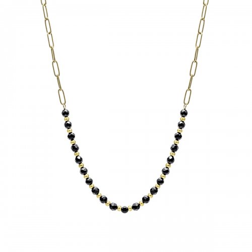 Spirit Short Necklace Black/Gold