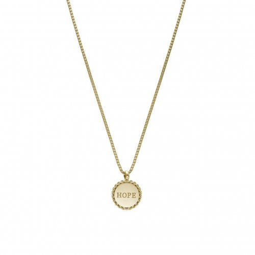 Hope Short Necklace Gold