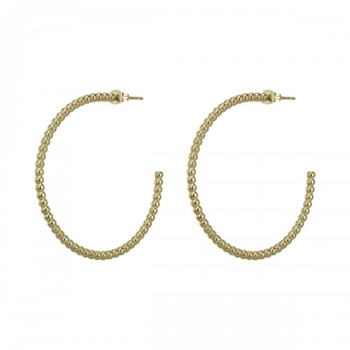 Bead Hoop Large Gold