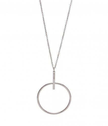 Zone Long Necklace Steel