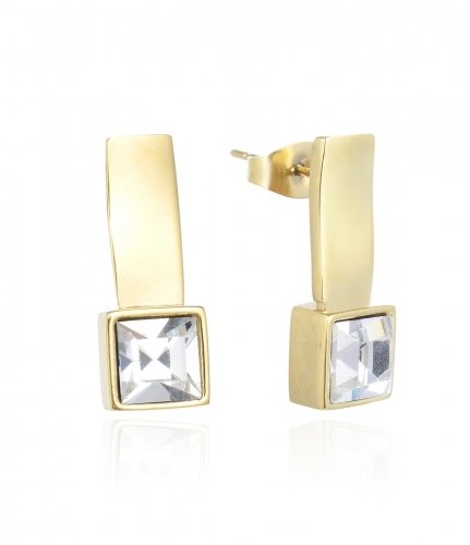 Sally Earring Clear/Gold