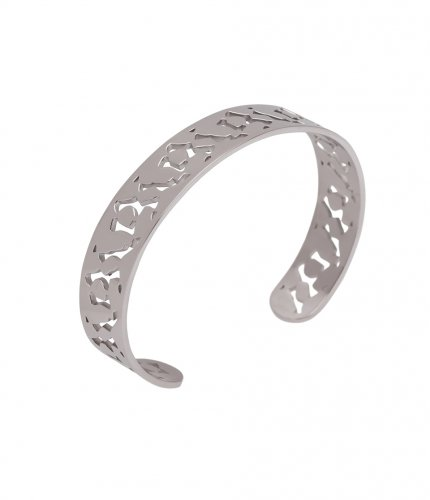 Lace Bangle Steel