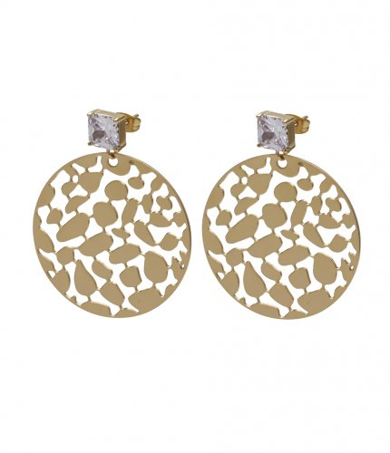 Lea Crystal Earring Clear/Gold