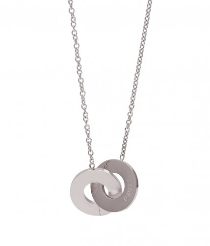 Aston Steel Two Short Necklace 55cm